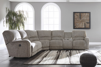 Signature by AshleyPittsfieldLeft Arm Facing Double Reclining Power CON Loveseat