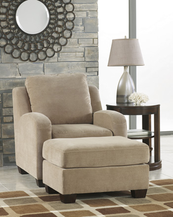 3180168 ashley circa queen sofa chaise sleeper taupe for Ashley circa sofa chaise
