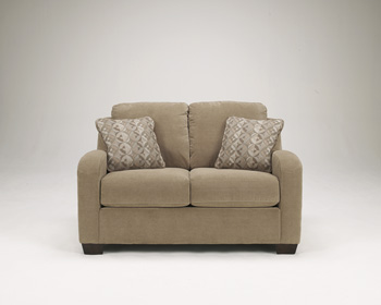 3180168 ashley circa queen sofa chaise sleeper taupe for Ashley circa sofa chaise