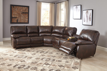 Signature Design by Ashley®HallettsvilleRight Arm Facing Double Reclining Power CON Loveseat