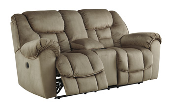 Signature Design by AshleyGLDR REC PWR Loveseat with Consol