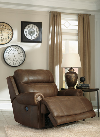 Signature Design by Ashley®AustereZero Wall Power Wide Recliner