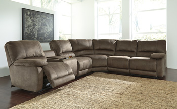 Signature by AshleySeamusLeft Arm Facing Double Reclining Power CON Loveseat