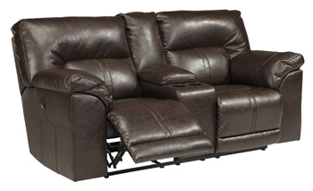 Signature by AshleyBarrettsville DuraBlend®Double Reclining Power Loveseat with Console