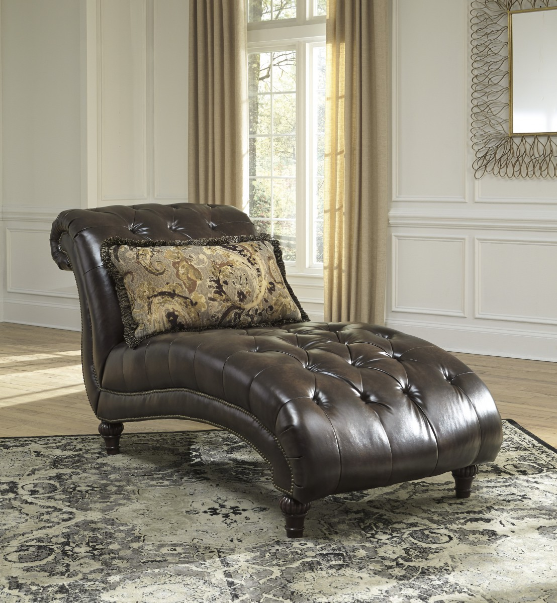 5560215 signature by ashley winnsboro durablend chaise for Ashley durablend chaise