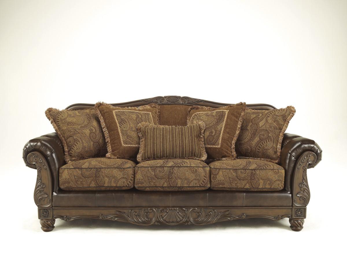 Signature by AshleyFresco DuraBlend®Sofa ? - 6310038 Signature By Ashley Fresco DuraBlend® Sofa Antique - Baker