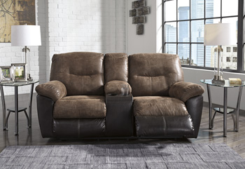 Signature Design by AshleyFollettDouble Reclining Loveseat with Console