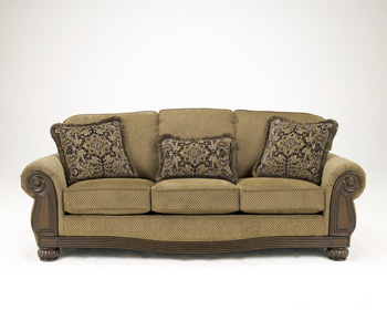 Leather reclining sofas sofas living room charlotte for Ashley kylee chaise lounge