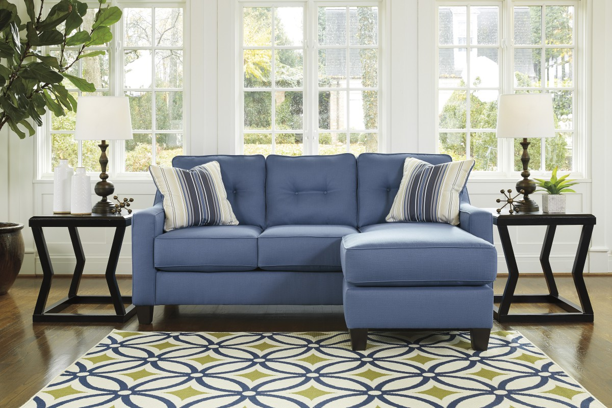 6870318 Signature By Ashley Aldie Nuvella Sofa Chaise Blue