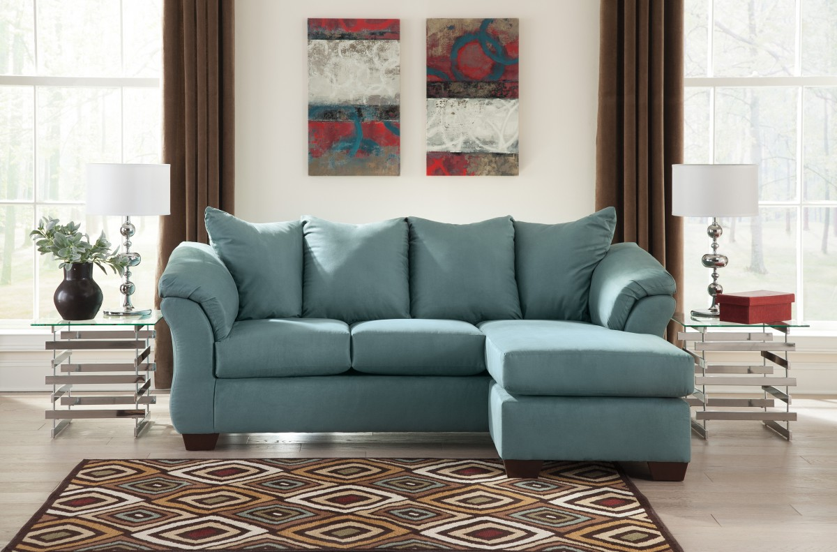 7500618 Signature by Ashley Darcy Sofa Chaise Sky - DeWaard & Bode