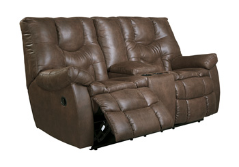 Signature Design by AshleyBurgettGlider REC Loveseat with Console