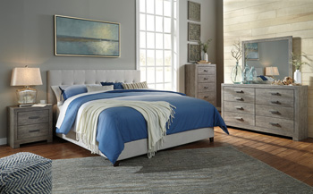 Signature Design By AshleyContemporary Upholstered Queen Upholstered Bed