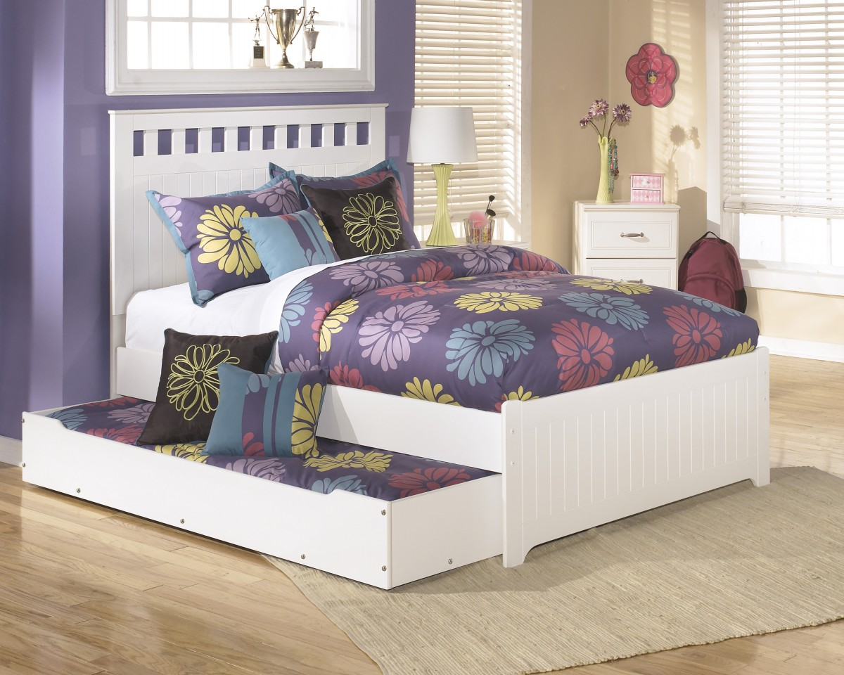 B102 60 Signature By Ashley Lulu Trundle Under Bed Storage White Charlotte Appliance Inc