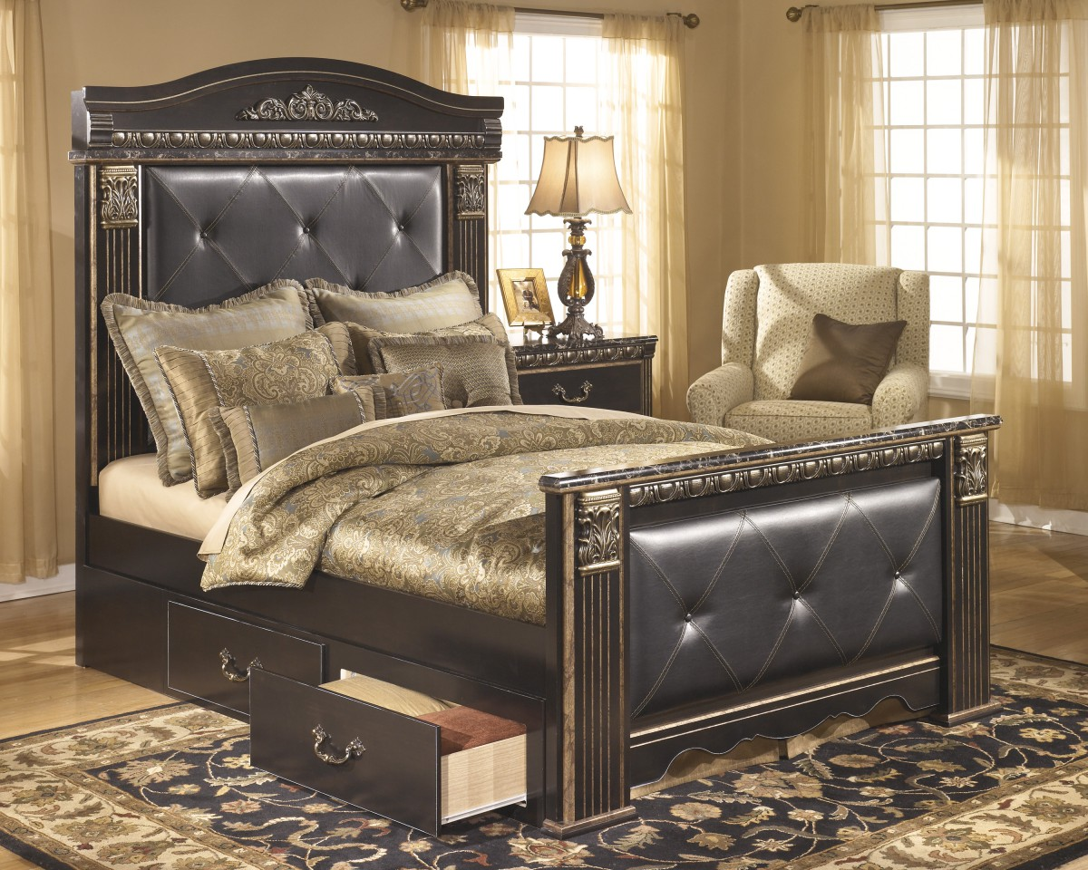 Ornate Bedroom Furniture B175 60 Signature By Ashley Coal Creek Mansion Under Bed Storage