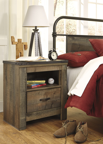 Signature Design by AshleyTrinellOne Drawer Night Stand