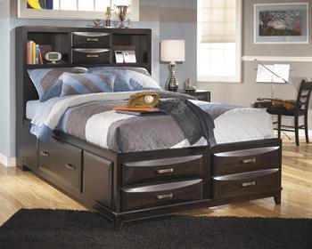 AshleyKiraFull Under Bed Storage with Rails