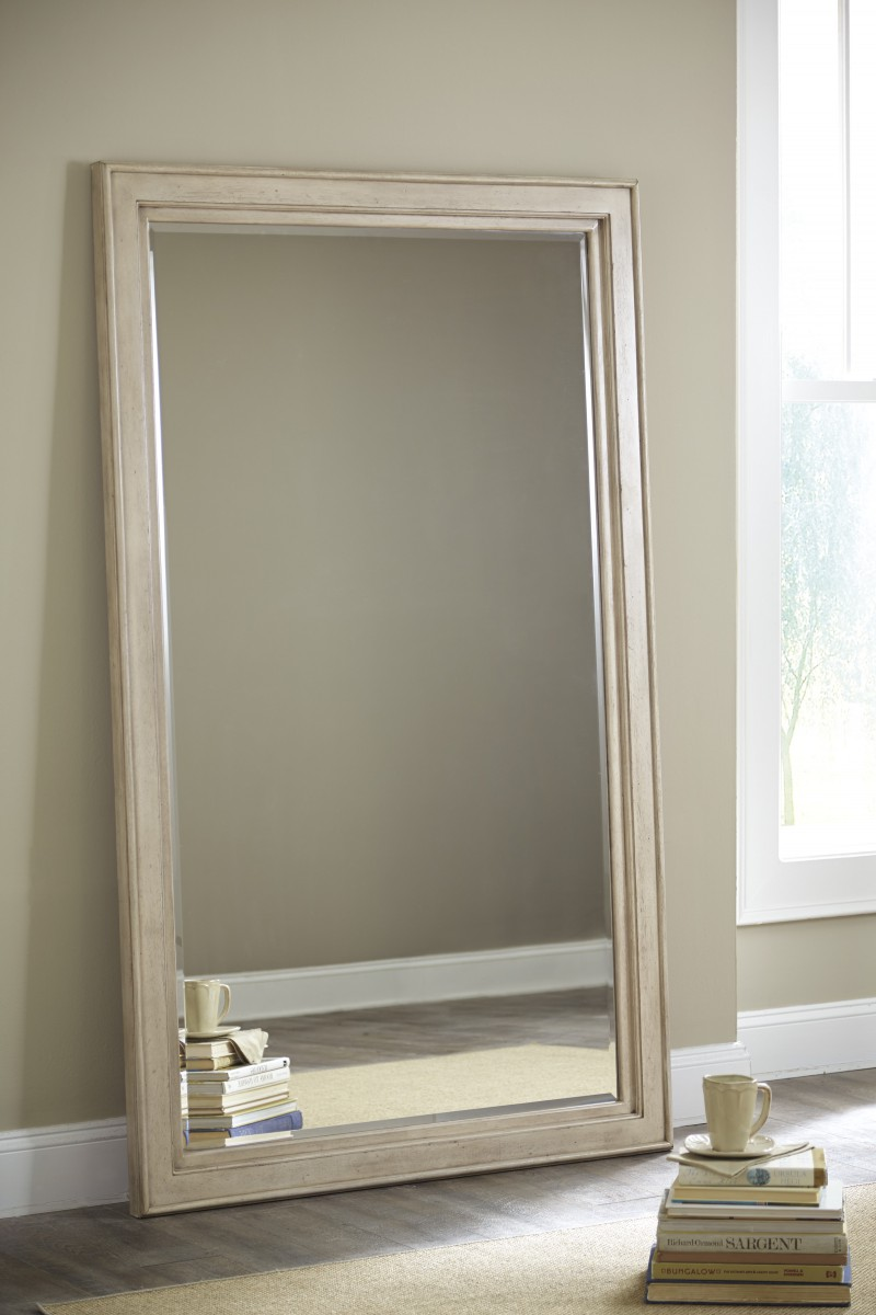 B693-07 Signature by Ashley Demarlos Floor Standing Mirror Parchment ...