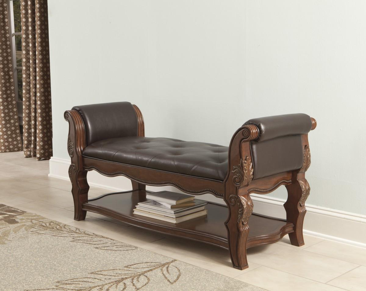 B705 09 millennium by ashley ledelle upholstered bench - Upholstered benches for living room ...