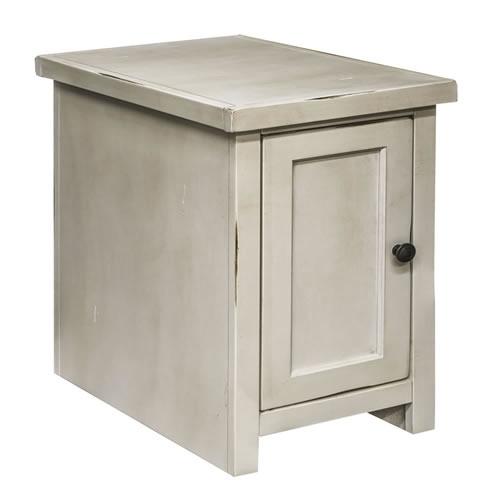 LegendsCalistoga White Chair Table w/Door