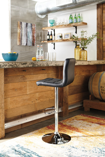 Signature Design by AshleyAdjustable Height BarstooTall UPH Swivel Barstool(2/CN)