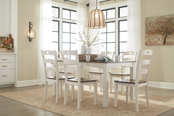 Signature Design by Ashley®WoodanvilleDining Room Table Set (7/CN)