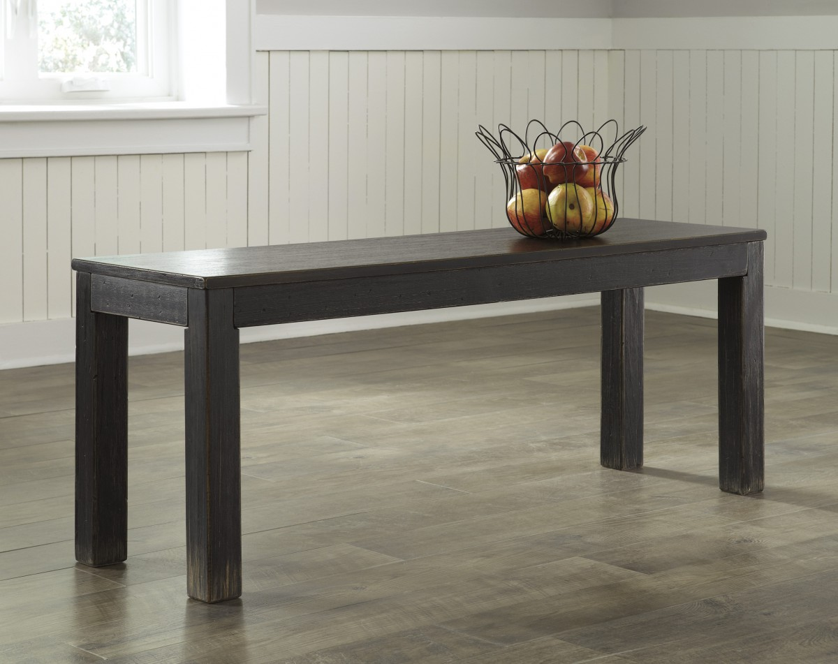 D Signature By Ashley Gavelston Large Dining Room Bench Black - Ashley gavelston coffee table