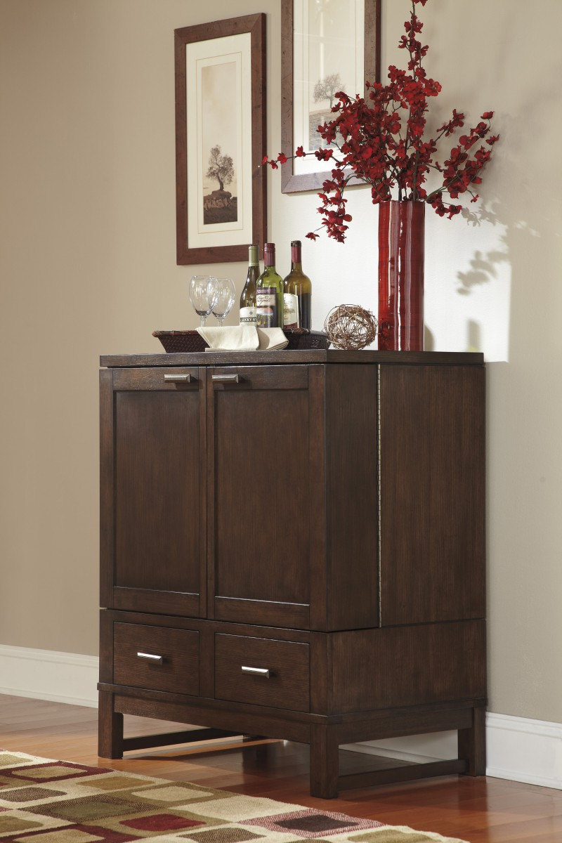 D541 65 signature by ashley watson dining room server dark brown charlotte appliance inc - Dining room server furniture ...