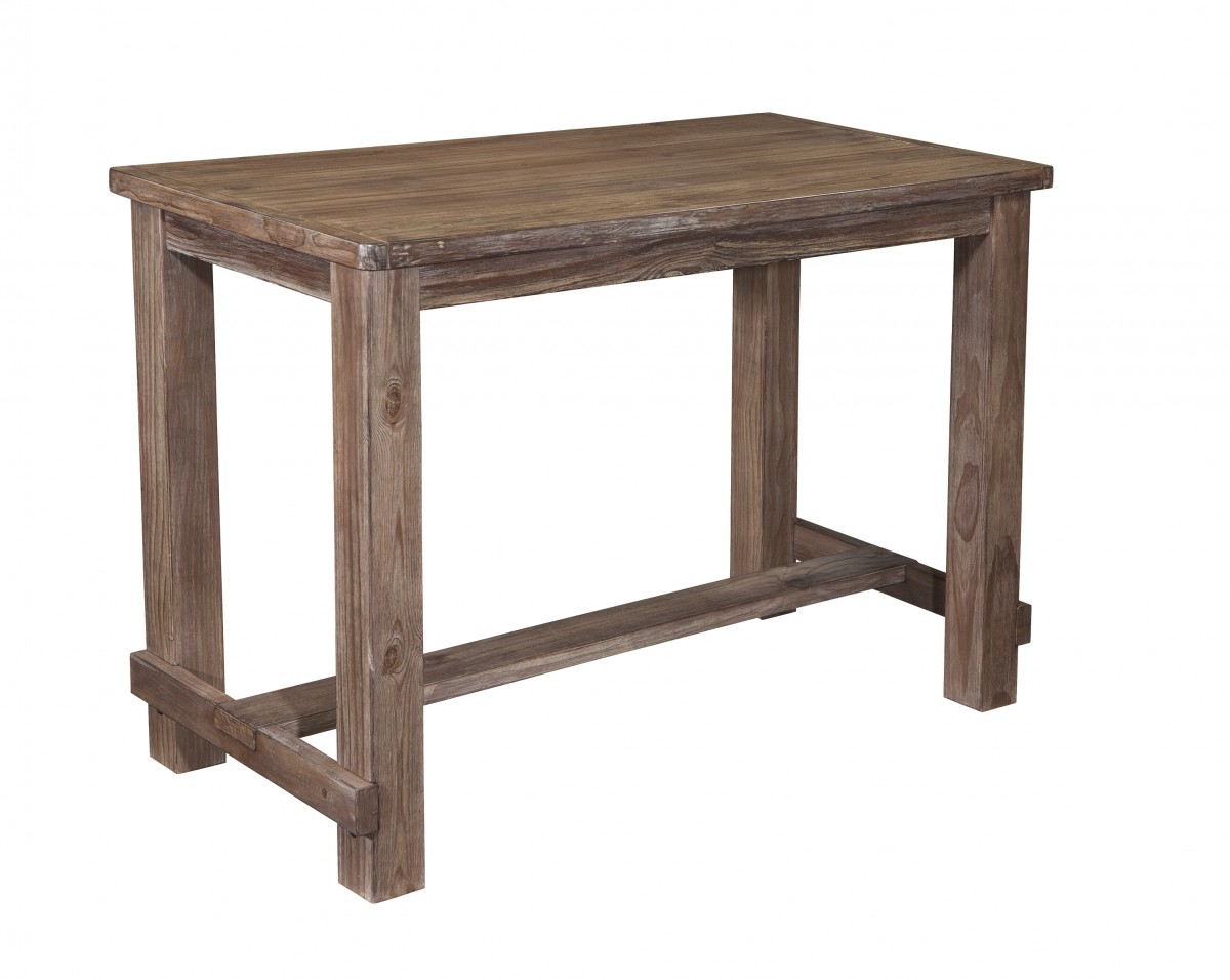 D542 12 Signature Design By Ashley Pinnadel Dining Room Bar Table Grayish Brown Knie