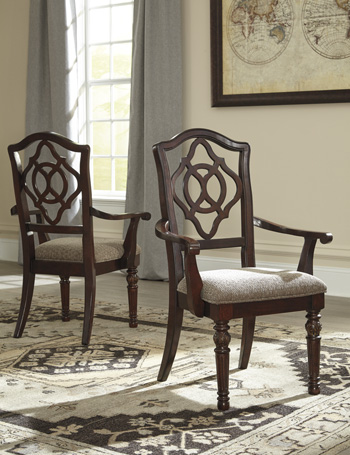 Signature Design by Ashley®LeahlynDining UPH Arm Chair (2/CN)