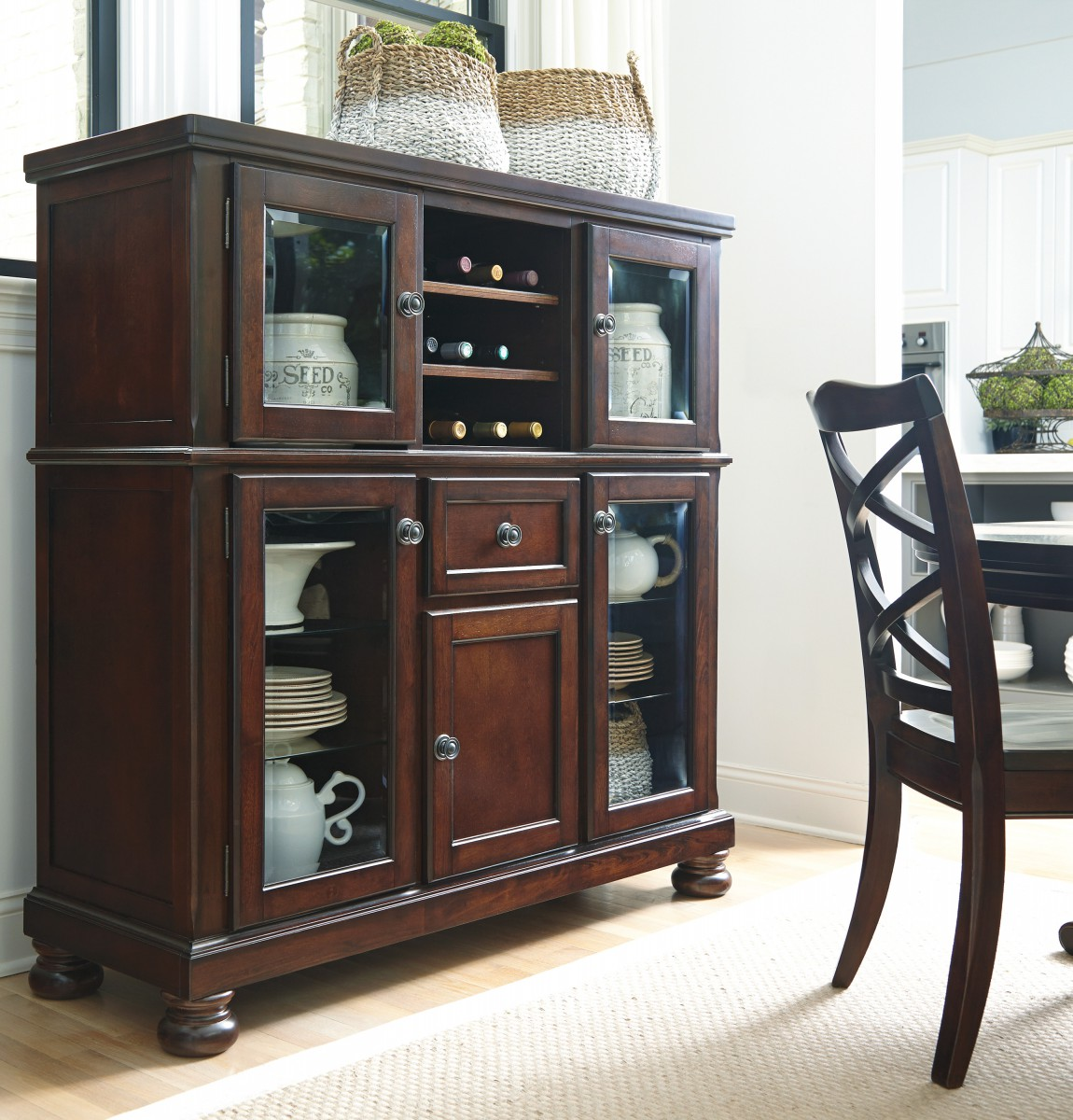Discount Furniture Store Package 76: Millennium Porter Porter - Rustic Brown