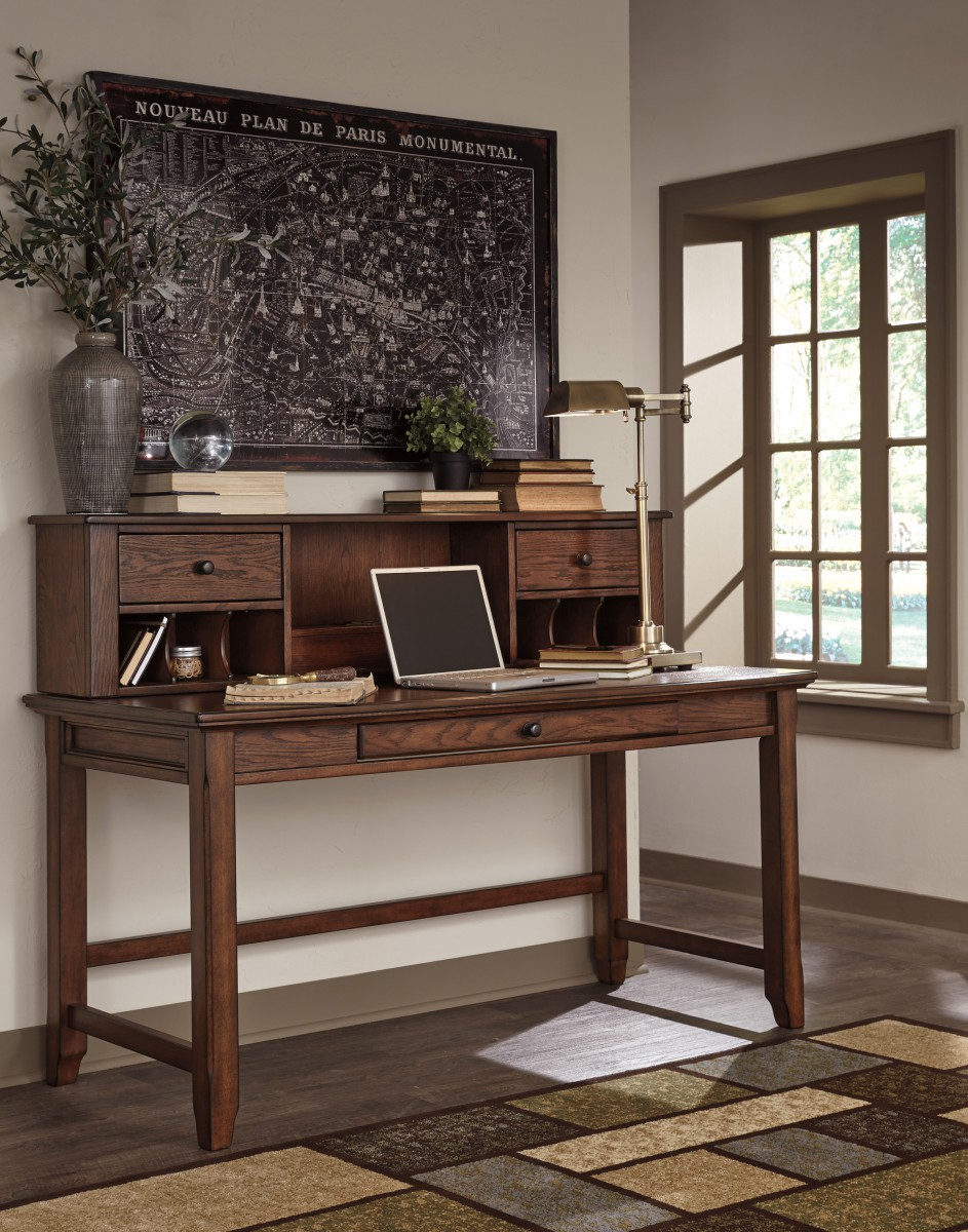 home office desk with hutch. Signature By AshleyWoodboroHome Office Desk Hutch Home With T