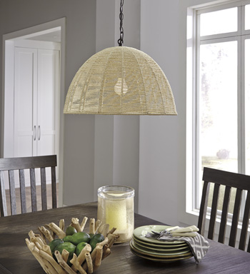 Signature Design by AshleyPaper Rope Pendant Light(1/CN)