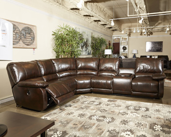 Signature Design by AshleyHallettsvilleLeft Arm Facing Double Reclining Power CON Loveseat