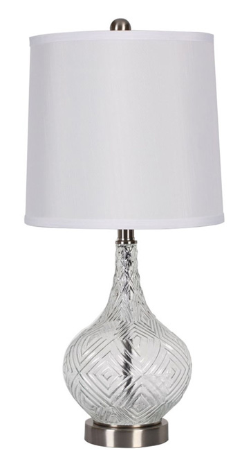 Signature By AshleyStefGlass Table Lamp (2/cn)