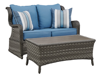 Signature Design by Ashley®Abbots CourtLoveseat Glider with Table (2/CN)