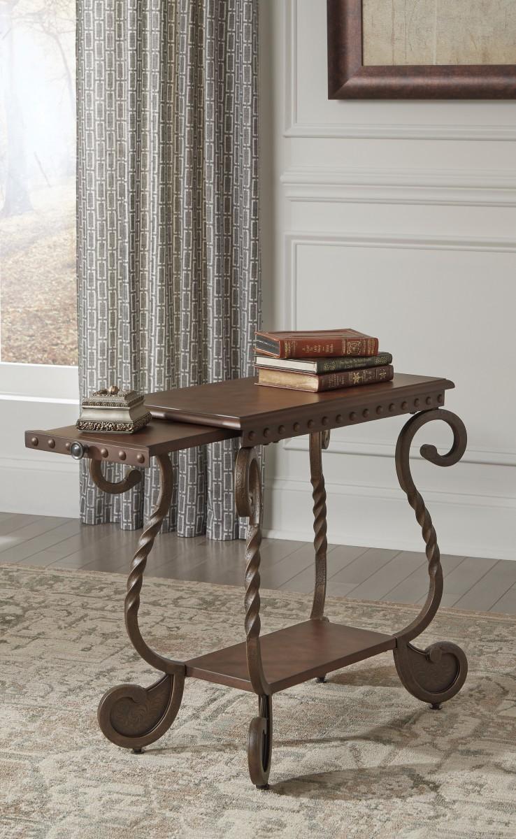 T Signature By Ashley Rafferty Chair Side End Table Dark Brown - Ashley rafferty coffee table