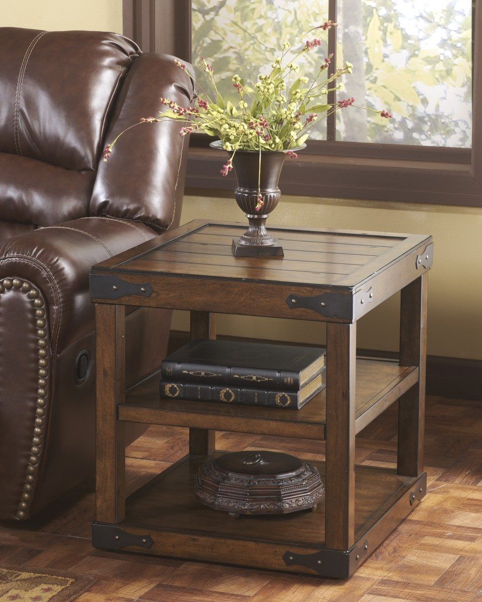 Rustic End Tables ~ T signature design by ashley shepherdsville