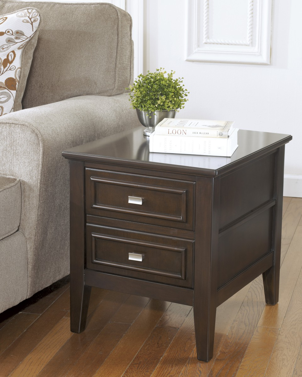 T Signature By Ashley Larimer Rectangular End Table Dark Brown - Ashley larimer coffee table