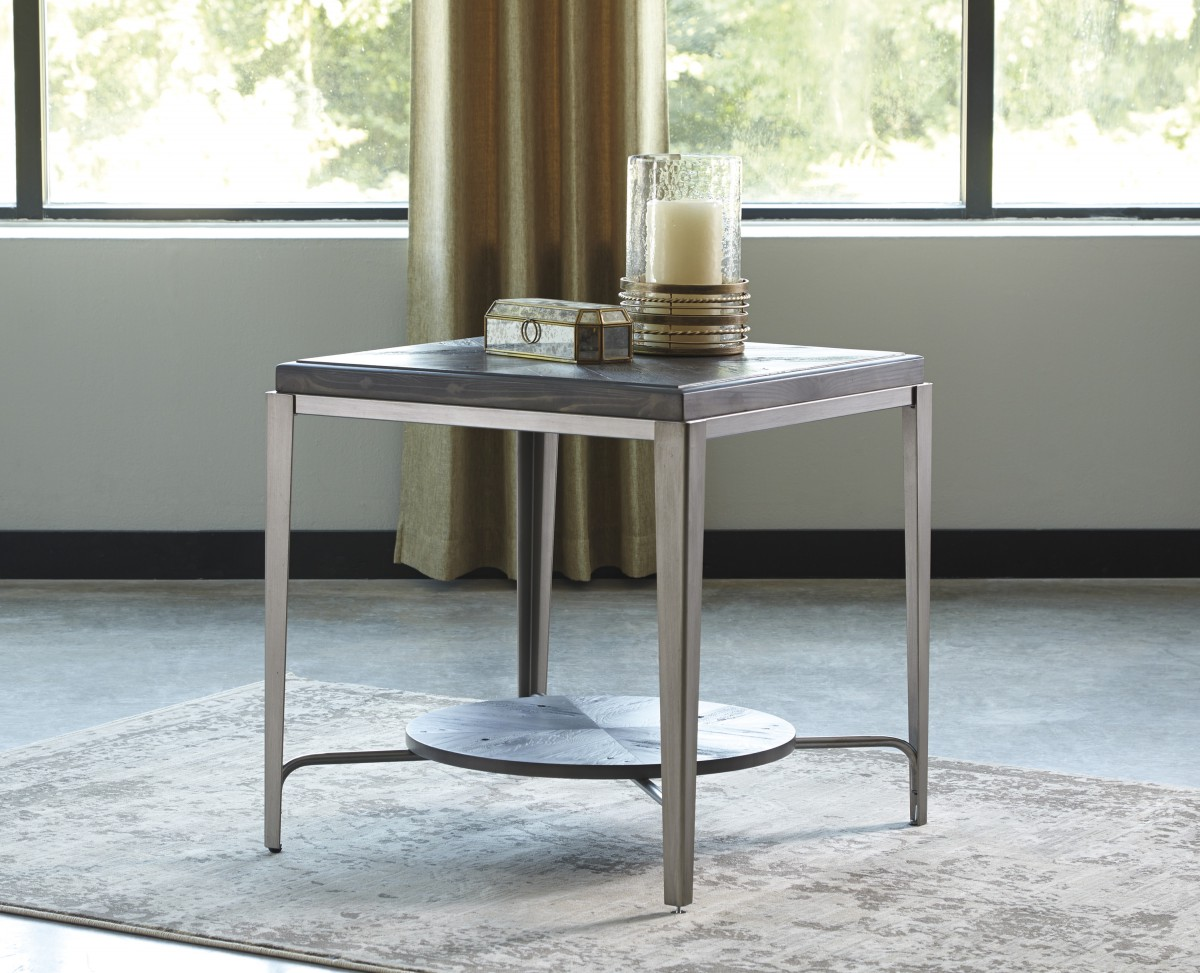 T Signature By Ashley Flandyn Square End Table Gray Cullens - Ashley center table