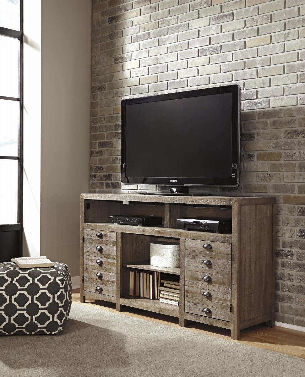W678 38 Signature Design By Ashley Keeblen Tv Stand With Fireplace