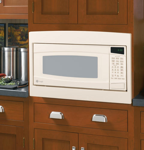 ge profile spacemaker ii 1 0 cu ft microwave oven bisque on bisque ...