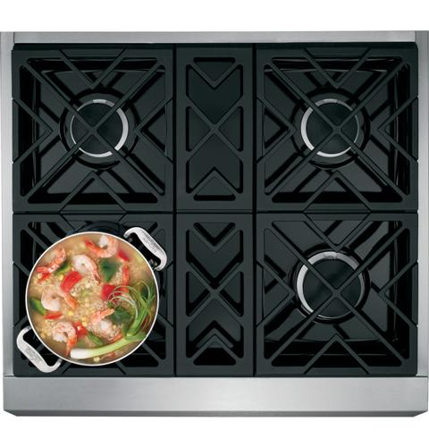 "GE Monogram GE Monogram® 30"" Dual-Fuel Professional Range with 4 Burners (Natural Gas)"