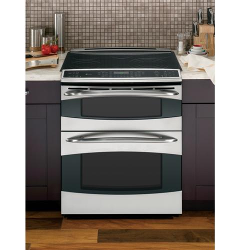ge profile ge profile slide in double oven electric range. Black Bedroom Furniture Sets. Home Design Ideas