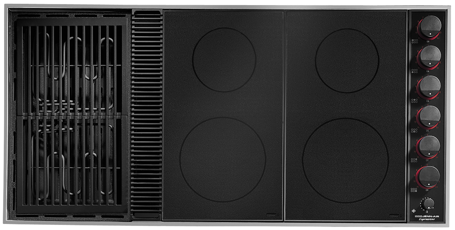 Electric Coil Cooktop With Downdraft ~ Quot expressions collection modular electric downdraft cooktop