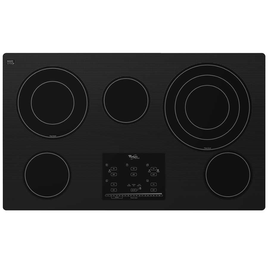 Whirlpool Electric Glass Cooktop ~ Bray scarff appliance kitchen specialist