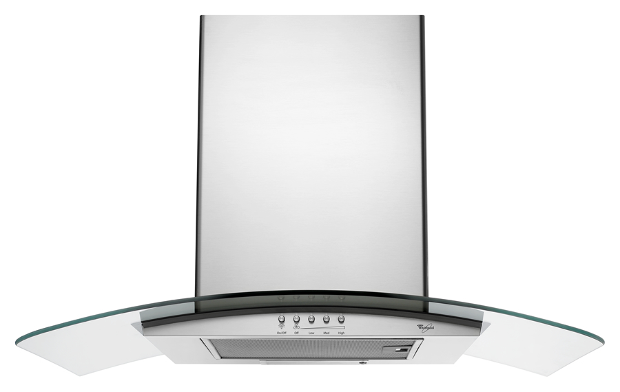 GXW6536DXS Whirlpool 36u0026quot; Glass Wall-Mount Canopy Hood Stainless Steel