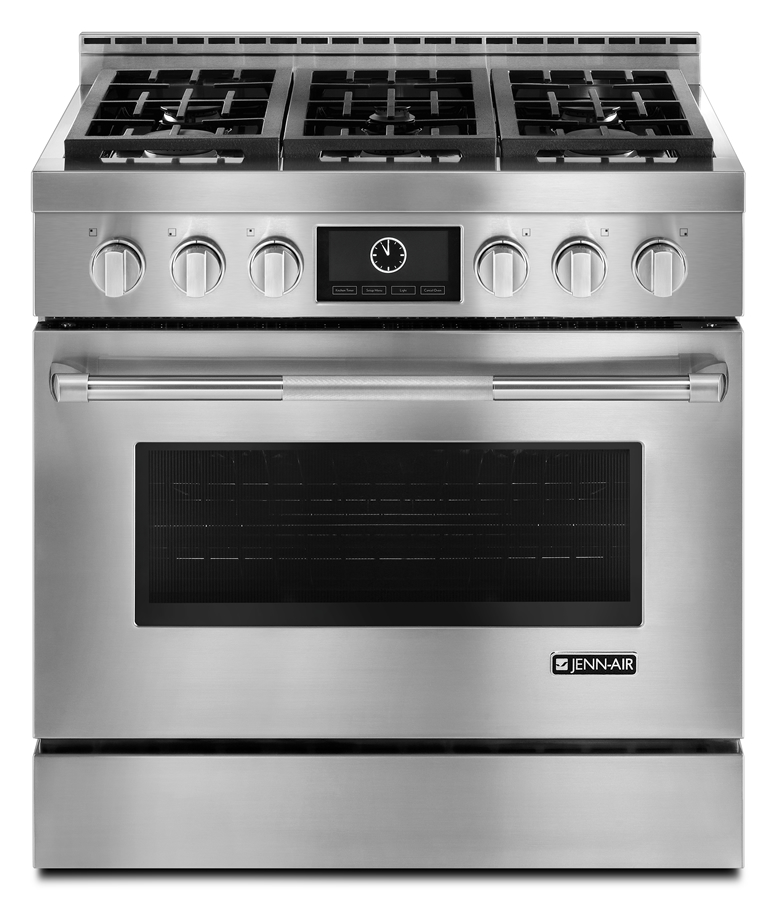 36 pro style gas range with multimode convection stainless