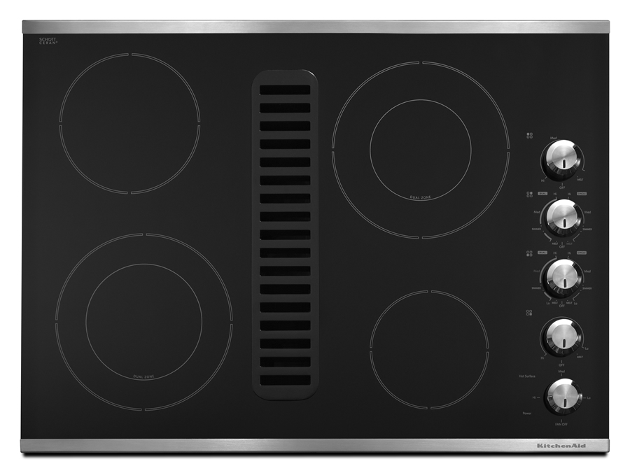 30-Inch, 4-Element Downdraft Cooktop