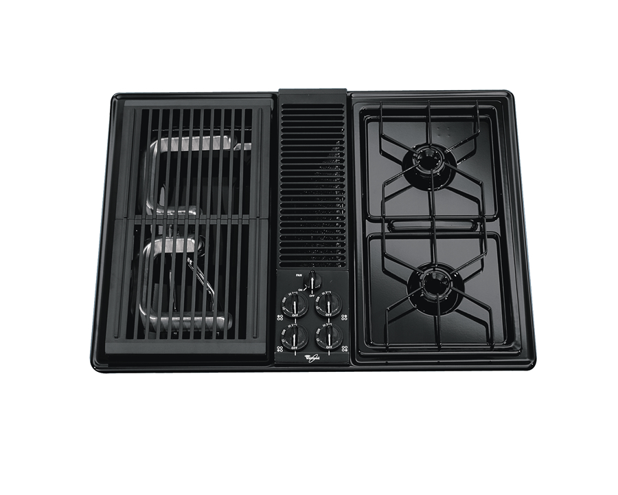 Stove Ventilation Systems : Inch gas cooktop with downdraft ventilation system